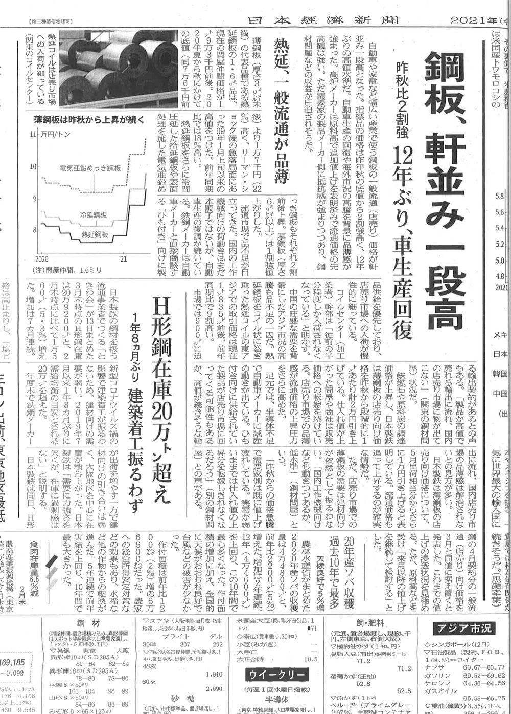 20210414日本経済新聞