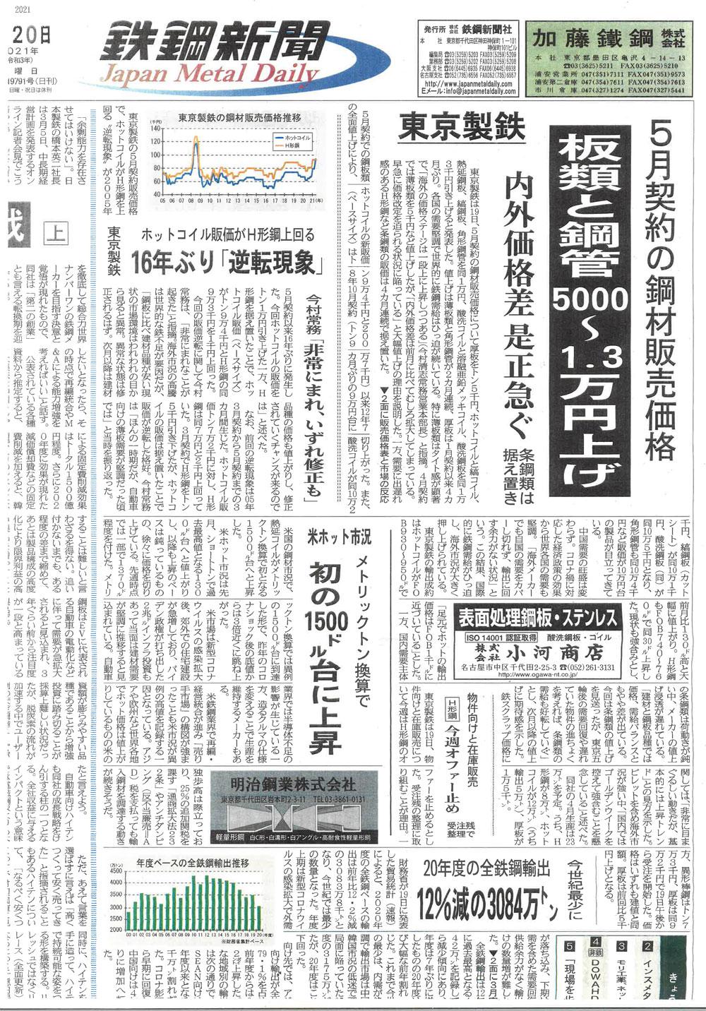 20210420鉄鋼新聞