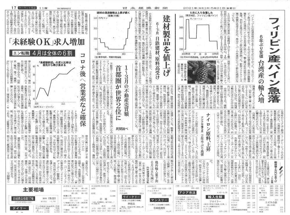 20210521日本経済新聞